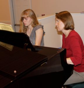 Piano Student Playing Chopin during Piano Lesson
